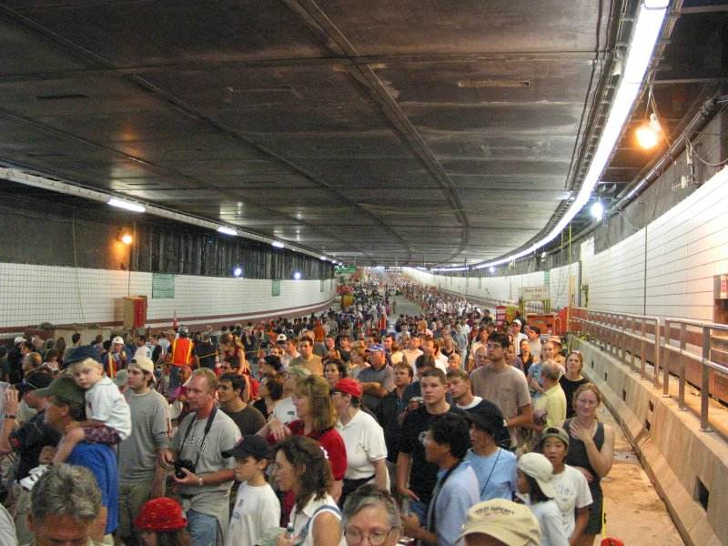 Boston's Big Dig tunnel opened to foot traffic