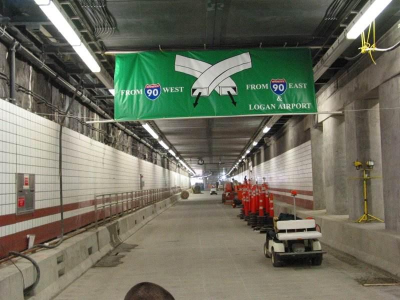 Boston's Big Dig tunnel photo at VistaDome.com