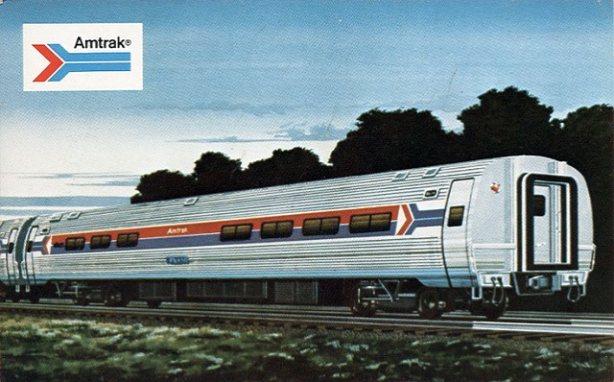 Amtrak postcards at VistaDome.com