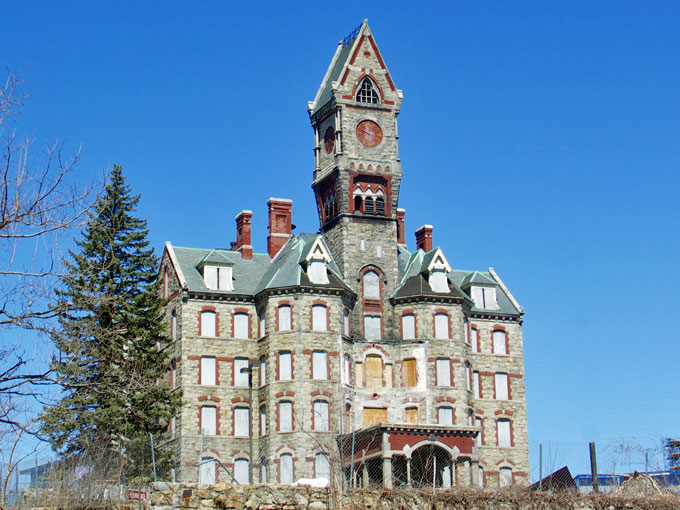 Clock Tower At Worcester State Hospital
